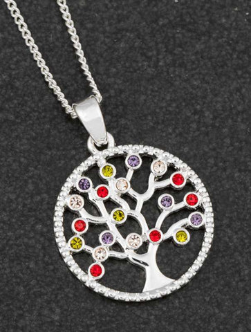 HARLEQUIN TREE OF LIFE NECKLACE
