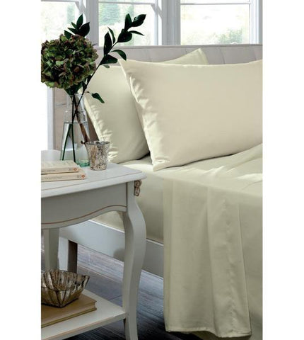 SINGLE FLAT SHEET - CREAM