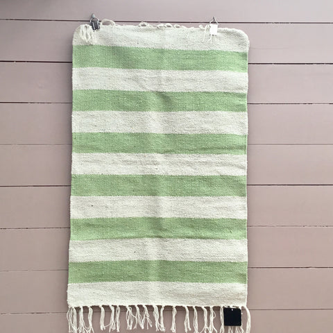 SEA GREEN STRIPE RUG