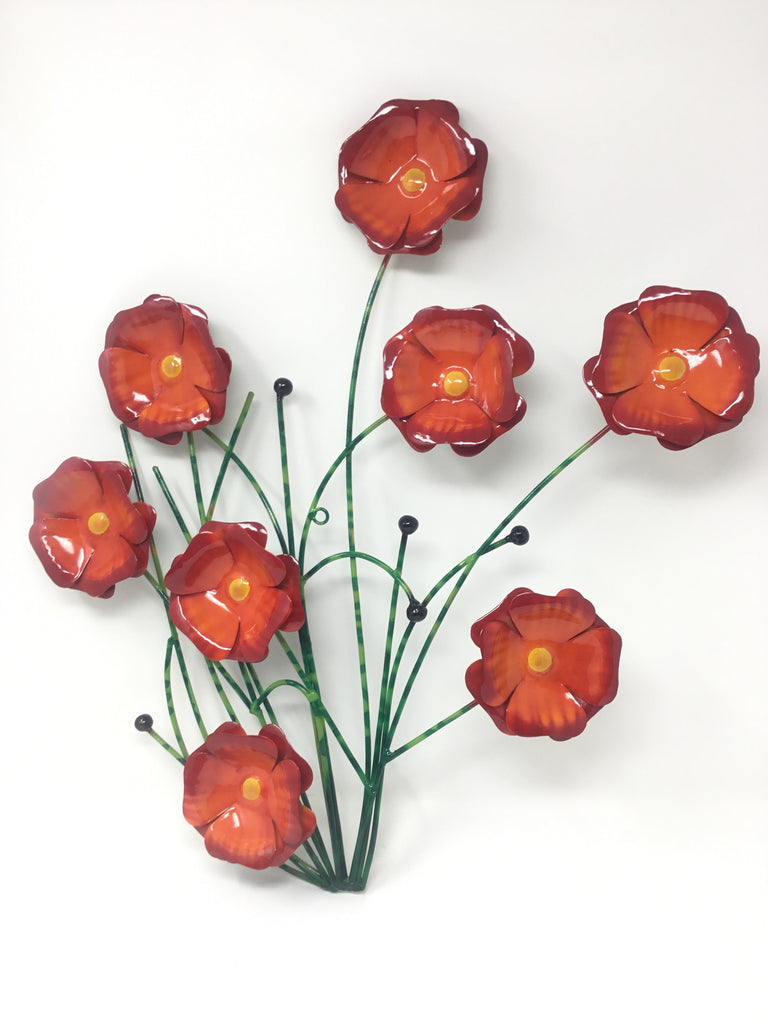 RED POPPY WALL DECO