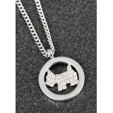 299355 EQ PAVE WESTIE NECKLACE
