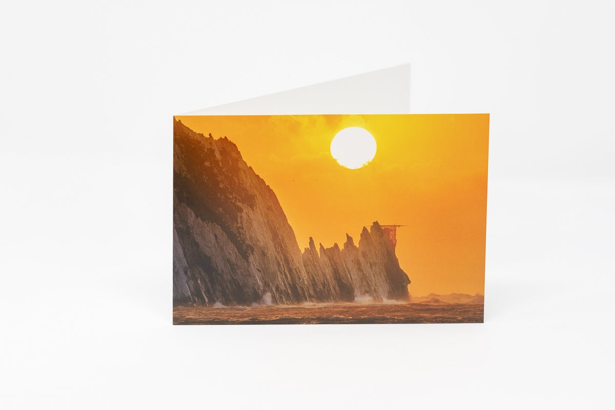 CARD WESTERN SUNSET - THE NEEDLES