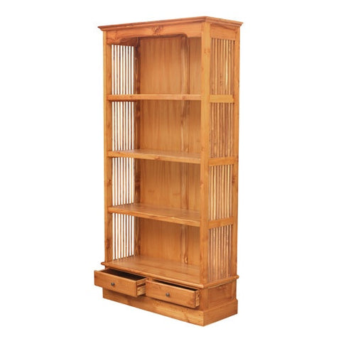 LARGE BARRED BOOKCASE TEAK