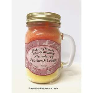 LARGE MASON STRAWBERRY PEACHES & CREAM