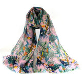 TROPICAL BIRD SCARF - PINK