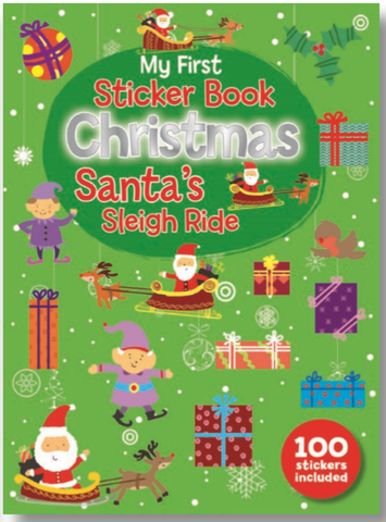 STICKER BOOK CHRISTMAS SANTA'S SLEIGH