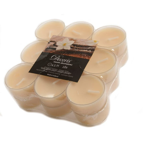 18X SCENTED TEA LIGHTS VANILLA