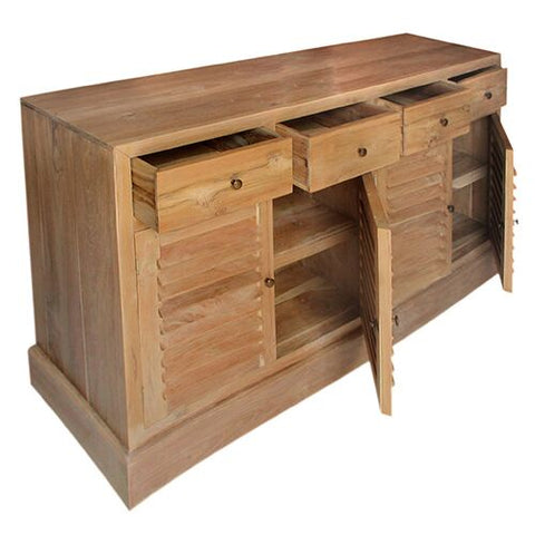 SPANISH LOUVRE 4 DOOR 4DRAWERS W/W