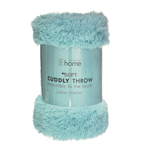 CUDDLY THROW - DUCK EGG BLUE