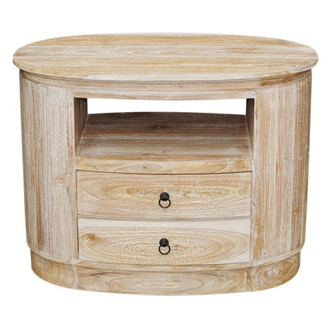 RWW OVAL 1 SHELF 2DRAWERS SLIM