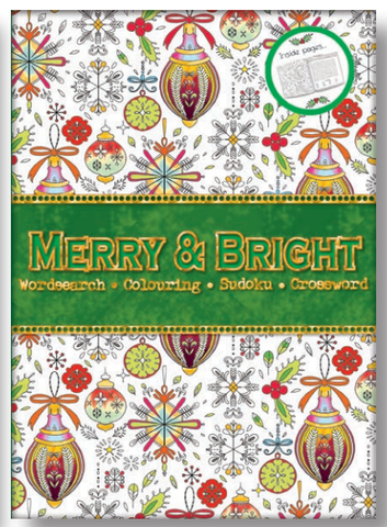 XMAS PUZZLE BOOK - MERRY AND BRIGHT