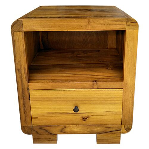 BEDSIDE 1DRAWER/1SHELF TEAK