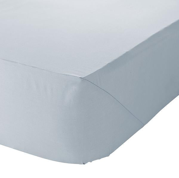 SHEET FITTED DUCK EGG BLUE DOUBLE
