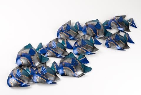 WALL DECOR BLUE 10 FISH