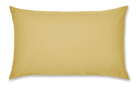 PILLOWCASE PAIR OCHRE