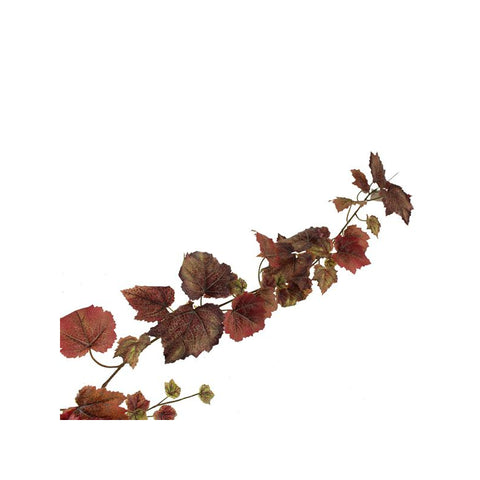 GRAPE LEAF GARLAND BURGUNDY