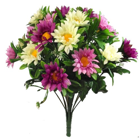 DAISY MIXED BUSH IVORY/PINK/PURPLE