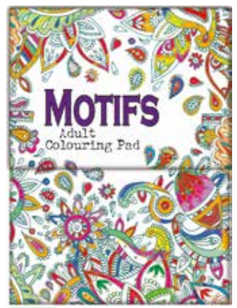 MINI ADULT COLOURING BOOK - MOTIFS