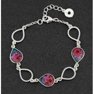294613 ETERNAL 3 FLOWERS TEARDROP BRACELET