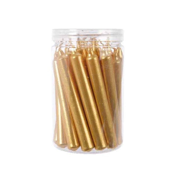 22X SMALL CANDLES GOLD