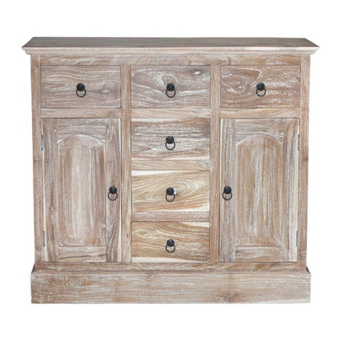 MINI SPANISH CABINET - RUSTIC WHITE WASH
