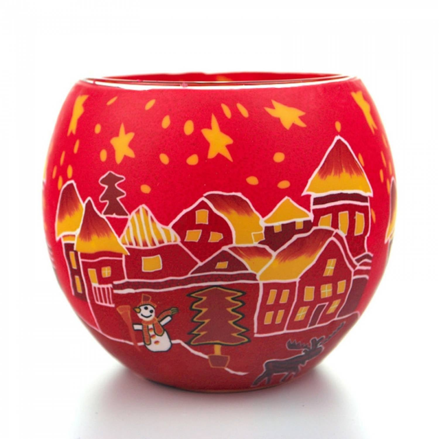 301 T/L RED HOUSE WITH ORANGE STARS