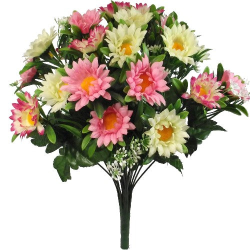 DAISY MIXED BUSH IVORY/PINK/CERISE