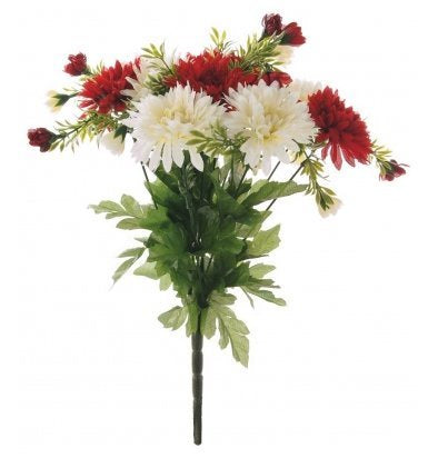 MINI DAISY BUNCH RED/CREAM