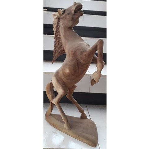 REARING HORSE 40CMS 2TONE