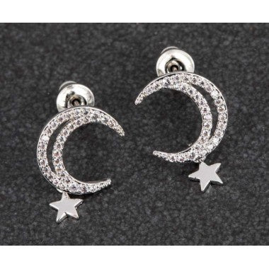 279715 PP MOON/STARS EARRINGS