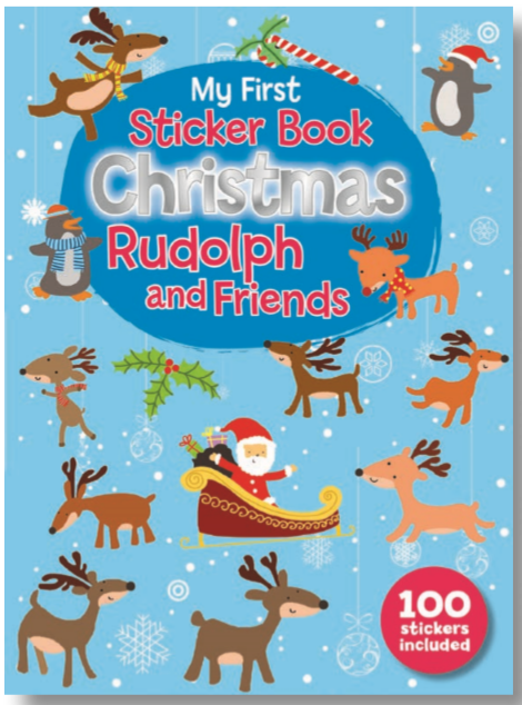 STICKER BOOK CHRISTMAS RUDOLPH