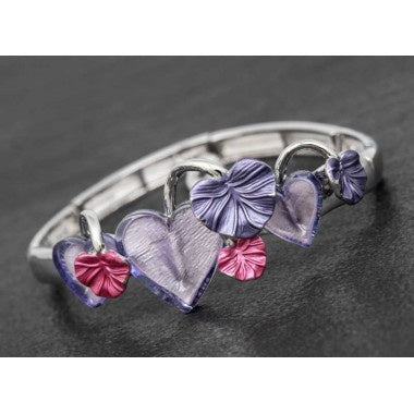 PURPLE HEARTS/LEAF BANGLE