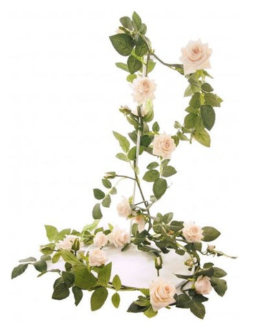 OPEN ROSE GARLAND IVORY