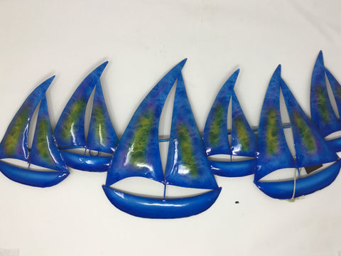 6 X BOAT WALL PLAQUE