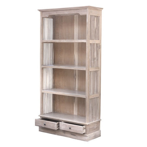 LARGE BARRED BOOKCASE W/W