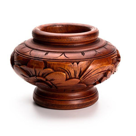 LOW CARVED POT