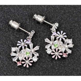 294526 HAND PAINTED FLOWER BOUQUET EARRINGS