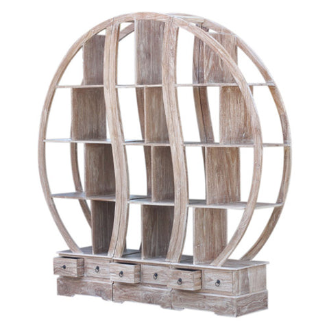 RWW TRIPLE ROUND BOOKCASE