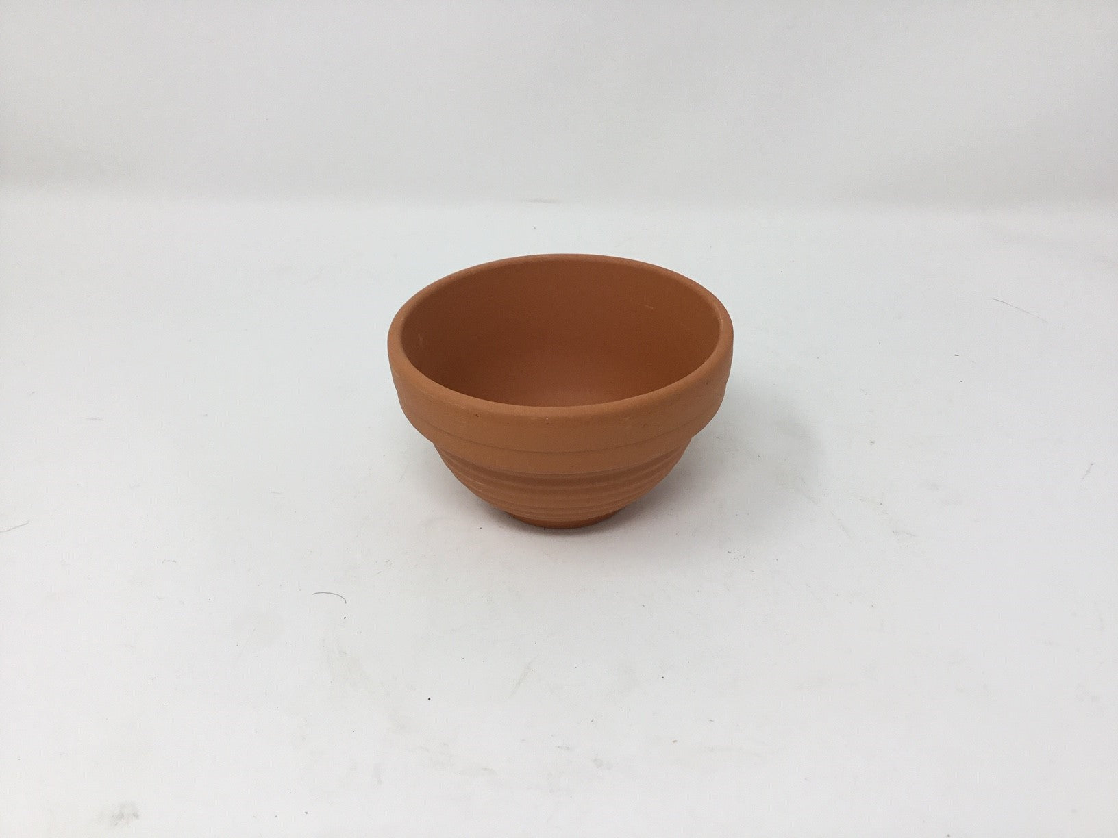 TERRACOTTA RIB BOWL MEDIUM 11CMSX6CMS