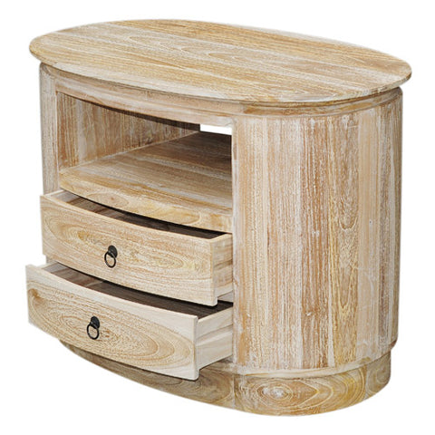 RWW OVAL 1 SHELF 2 DRAWERS SLIM