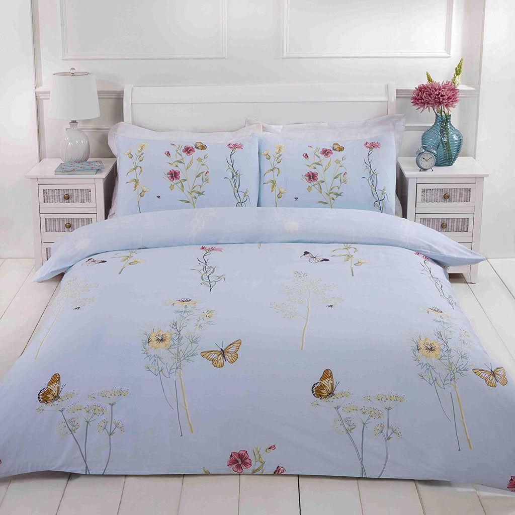 LAURA DUCK EGG DOUBLE + 2 PILLOWCASES