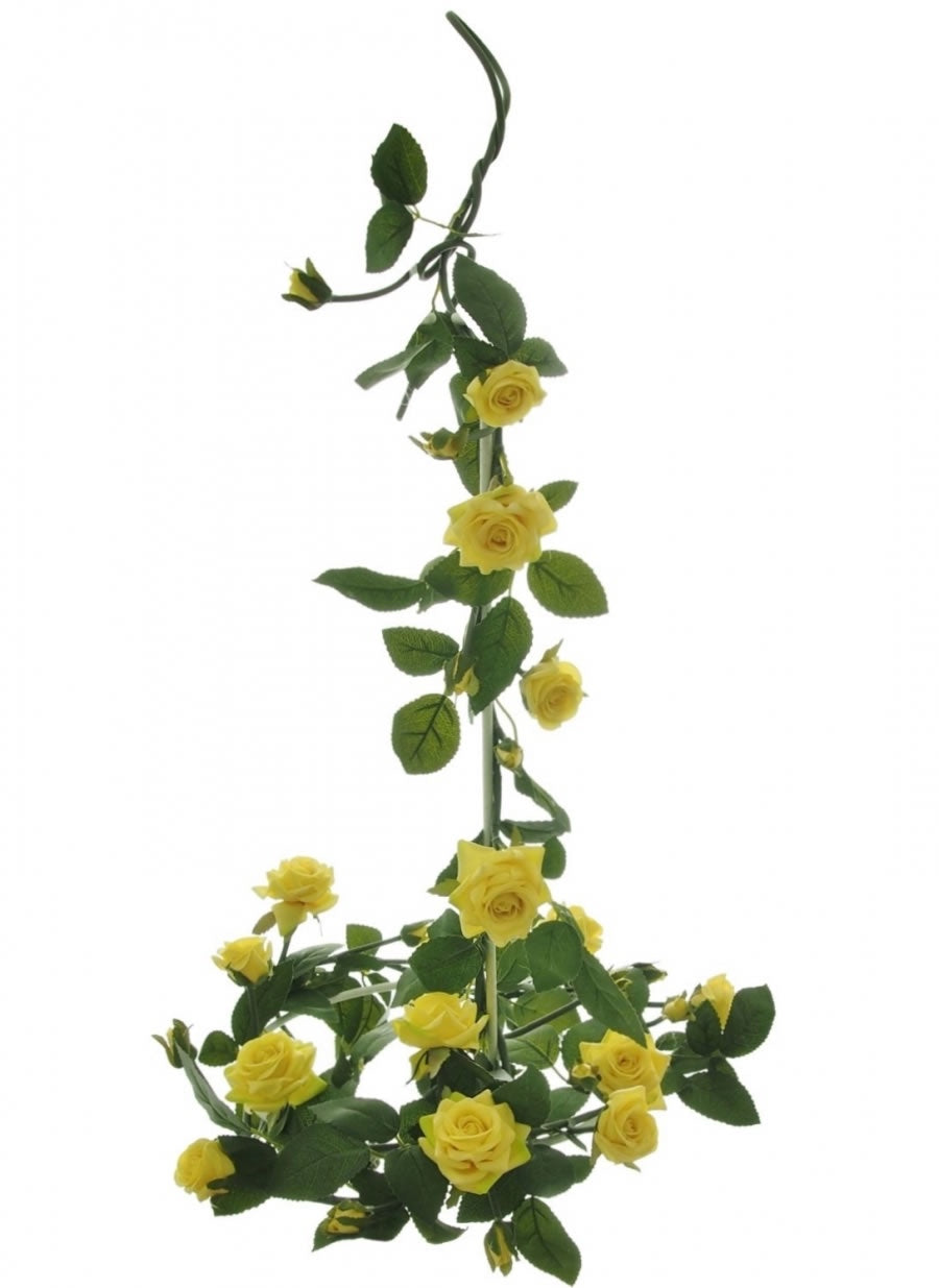 OPEN ROSE GARLAND YELLOW