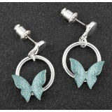 299552 EQ SAGE TONES BUTTERFLY EARRINGS