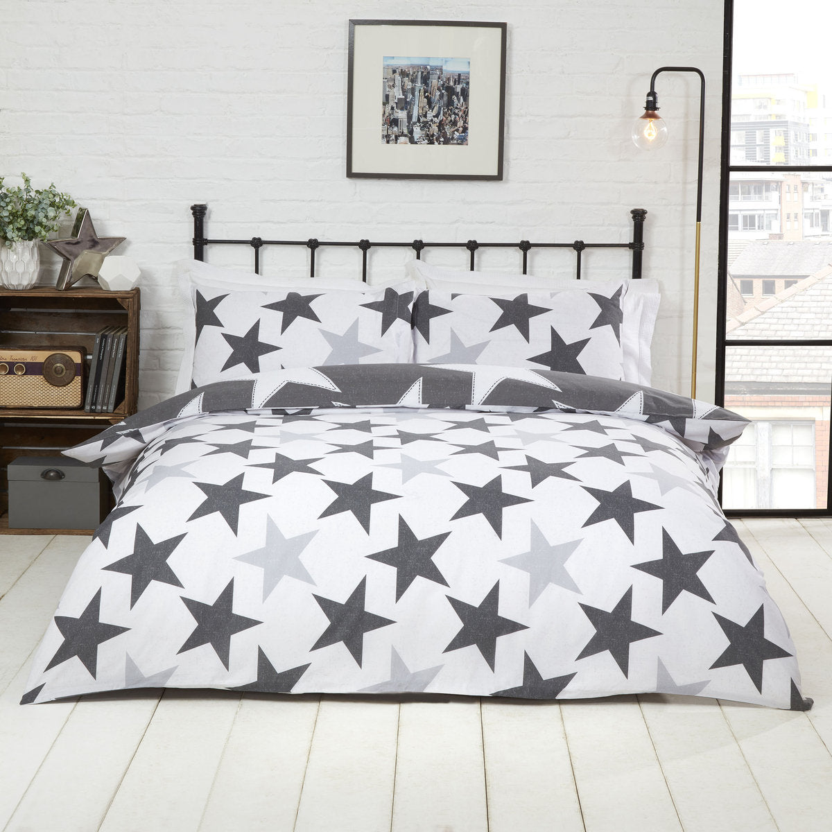 ALL STARS GREY DOUBLE + 2 PILLOWCASES