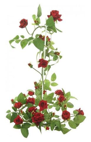 OPEN ROSE GARLAND RED