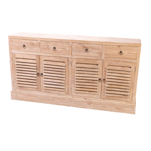 RWW SPANISH LOUVRE 4 DOOR 4 DRAWERS