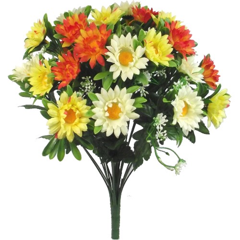 DAISY MIXED BUSH IVORY/YELLOW/ORANGE