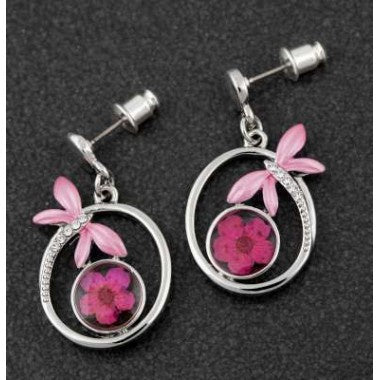294622 ETERNAL FLOWERS/DRAGONFLY  EARRINGS