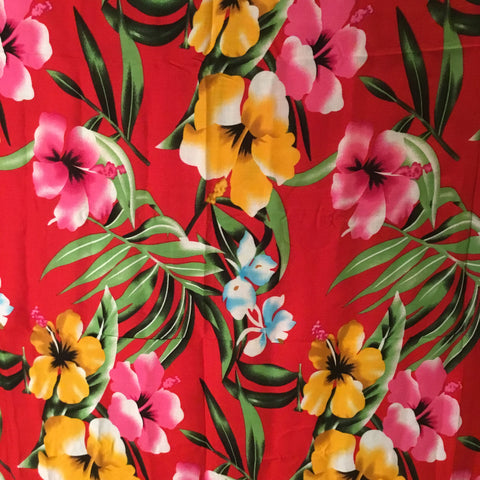 YELLOW AND PINK LILIES - SARONG WITH BUCKLE