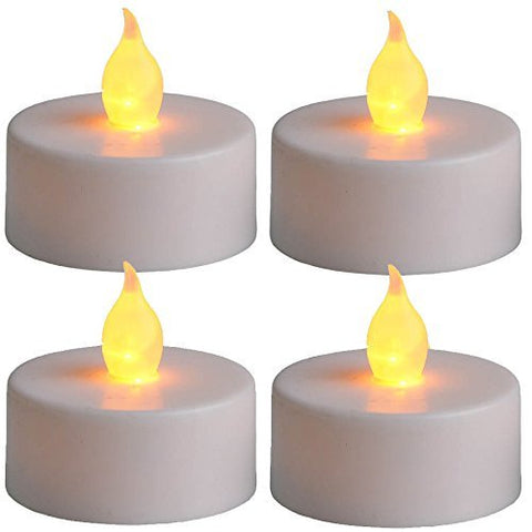 FLICKERING LED TEALIGHT SET - 4PCS